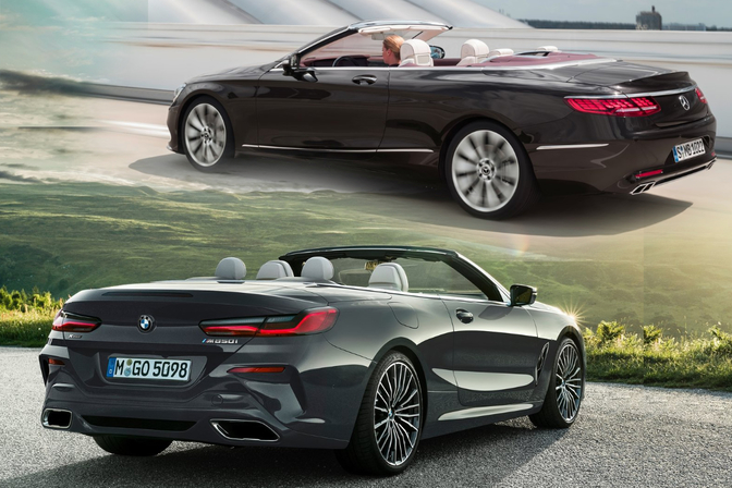 BMW 8 Cabrio vs Mercedes S Cabrio
