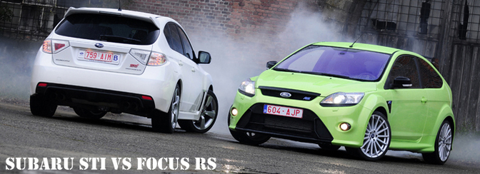 Ford Focus RS vs Subaru Impreza WRX STI