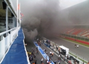 williams garage fire 2012 spain