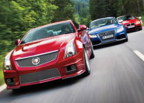 Audi RS5 vs BMW M3 vs Cadillac CTS-V Coupe