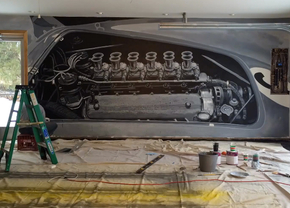 garage-mural-ferrari-video
